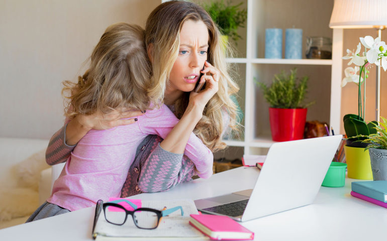 Worried Mother with Child why your family might not inherit your money