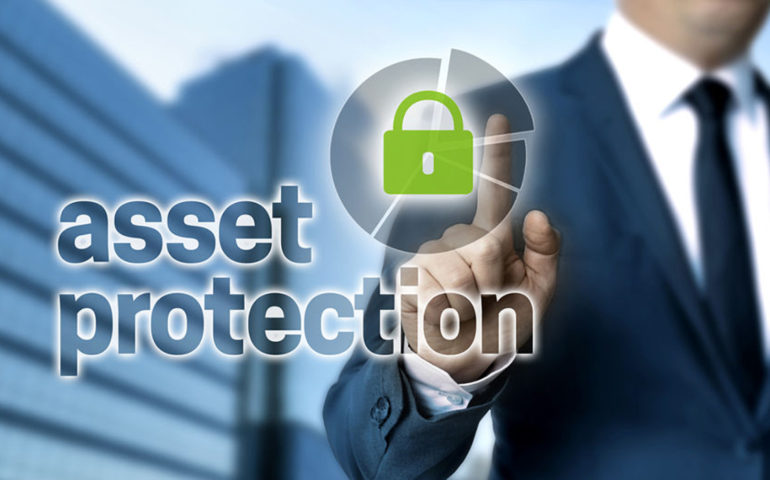 Asset Protection concept is shown by businessman