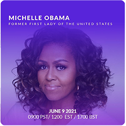 Michelle Obama speaking at #WITOnlineFestival with the participation of DGLegacy